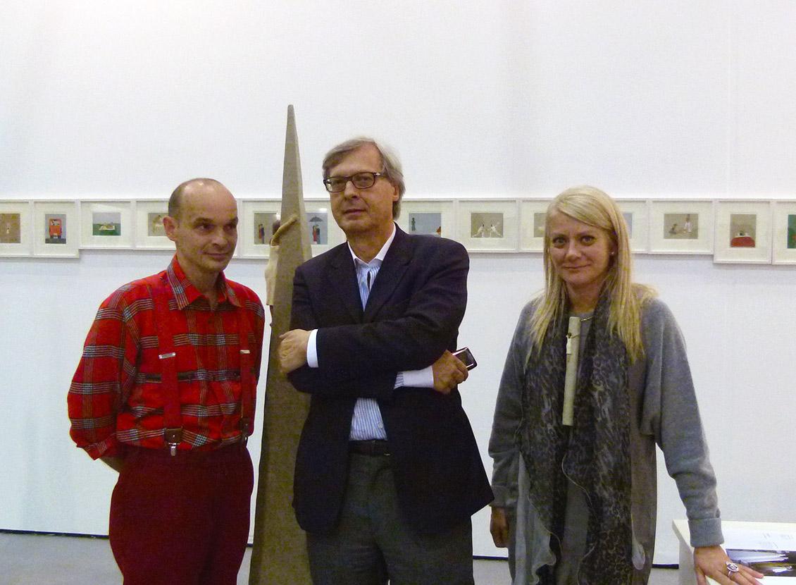 Nando Crippa, Vittorio Sgarbi, Sabina Melesi
