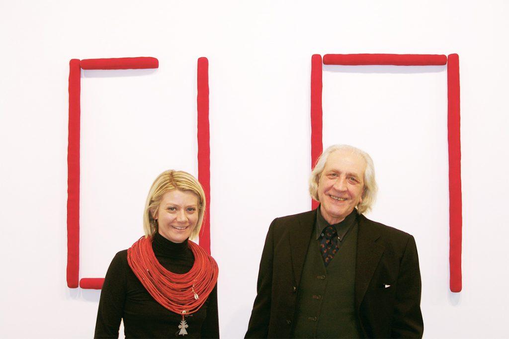 Sabina Melesi con Pino Pinelli