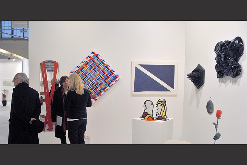 Giuseppe Maraniello e Simona Uberto alla fiera BAF 2016 nello Stand di Galleria Melesi