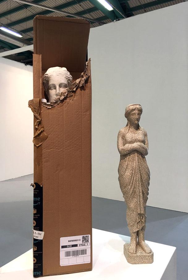sculture a confronto, Jiri Kolar e Nicolò Tomaini