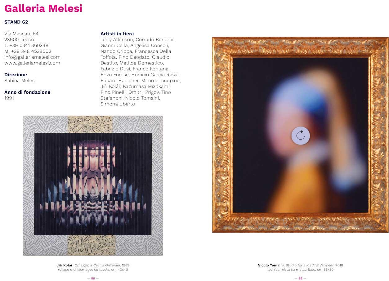Galleria Melesi, Catalogo BAF 2019