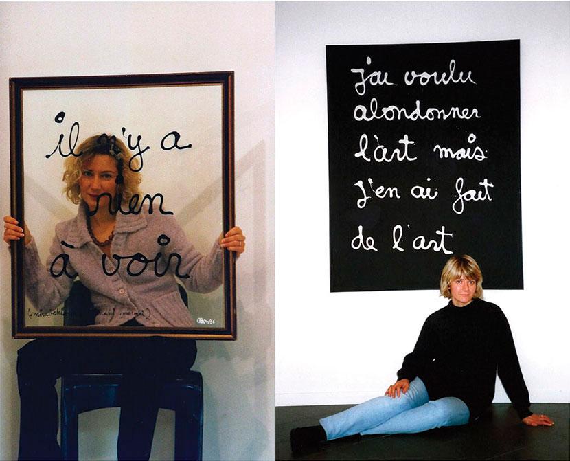 Susanna e Sabina melesi con due opere di Ben Vautier