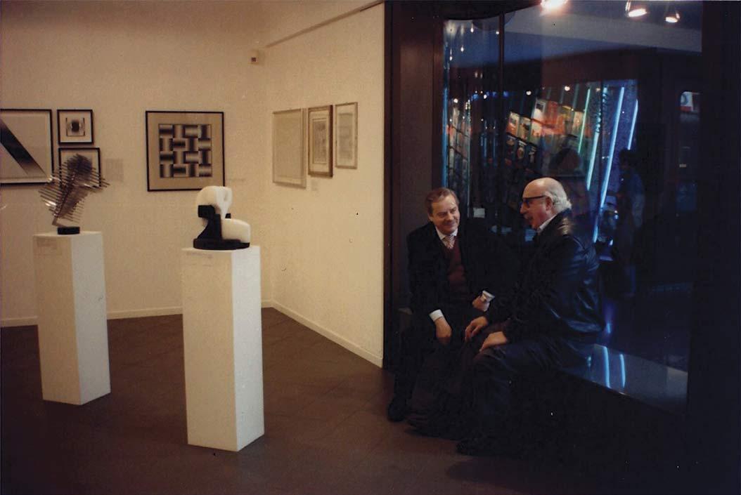 Foto con Mario Melesi e Horacio Garcia Rossi
