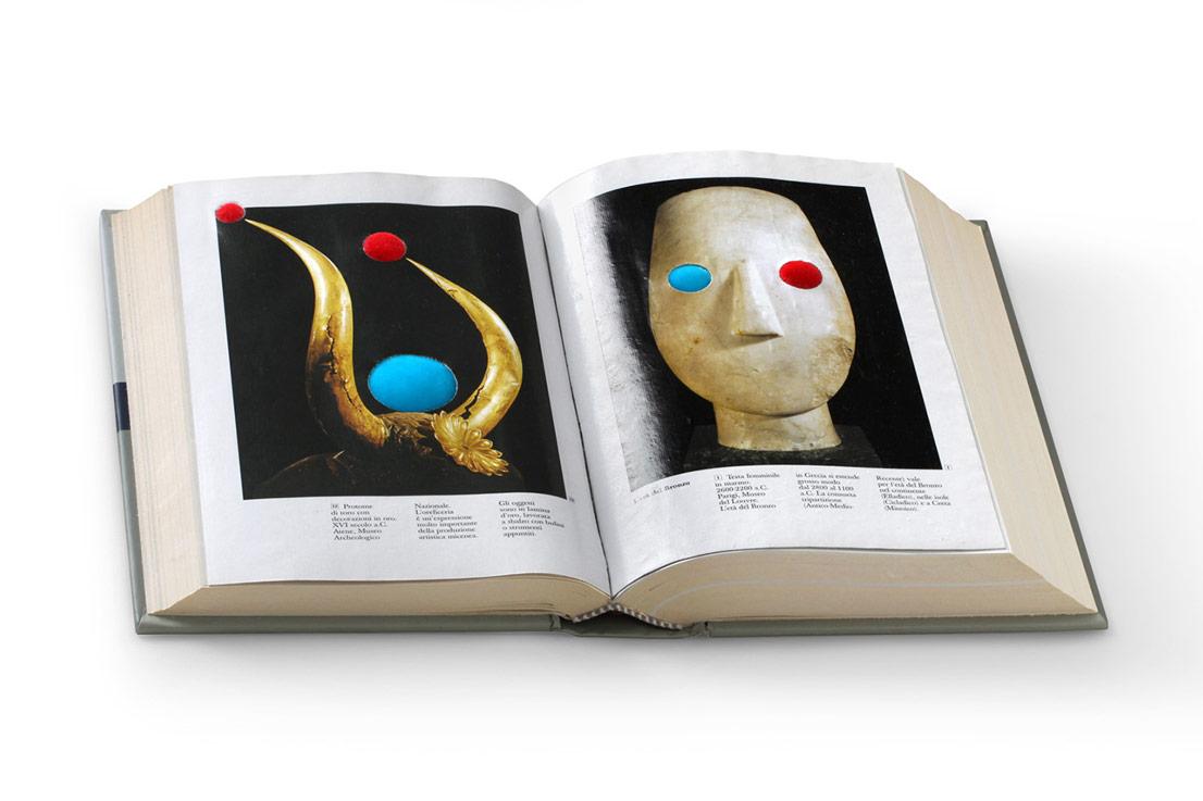 Chimera, Hybrid Greek, 2014/2016, cm 32 x 22, tecnica mista su libro